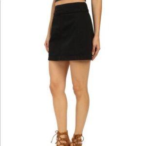 Free people size 2 black denim mini skirt